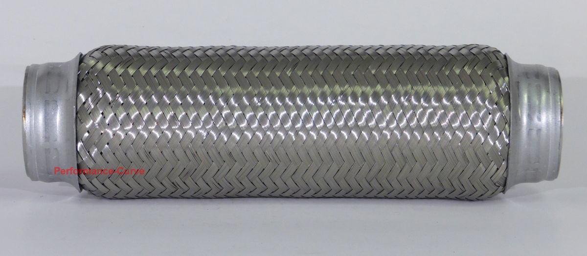 "2/"" x 10/"" Exhaust Flex Pipe Tube Stainless Steel Triple Ply"