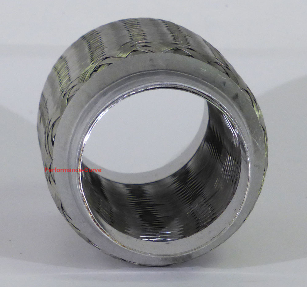 """2.25/"""" x 6/"""" Exhaust Flex Pipe Tube Stainless Steel Triple Ply"""