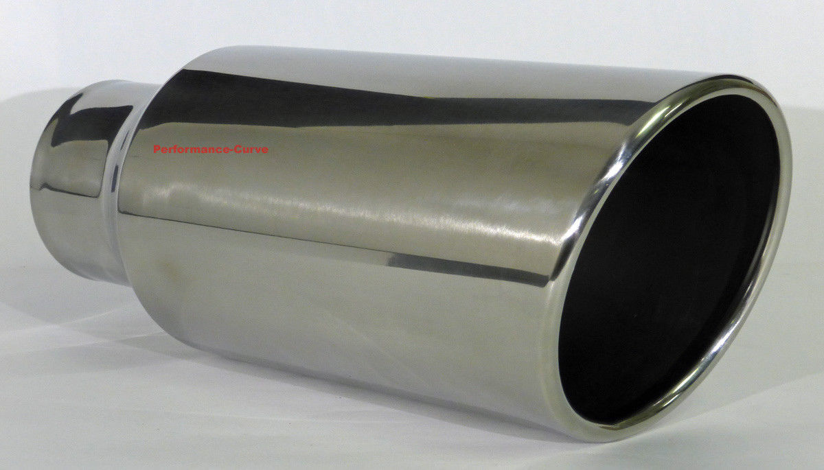 """6/"""" Outlet 15/"""" Long Diesel Stainless Steel Exhaust Tip 5/"""" Inlet"""