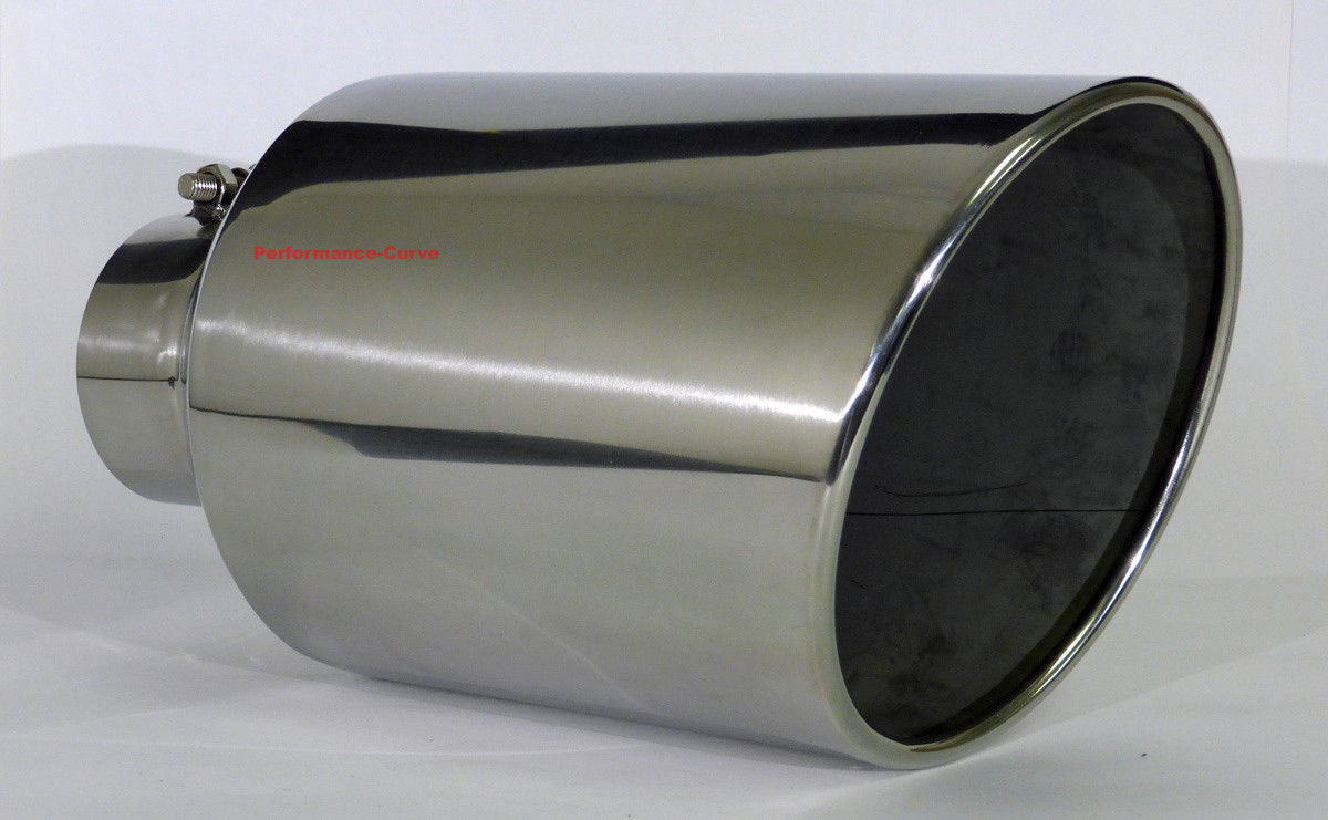 Diesel Exhaust Tip >> Details About Diesel Stainless Steel Bolt On Exhaust Tip 4 Inlet 8 Outlet 15 Long