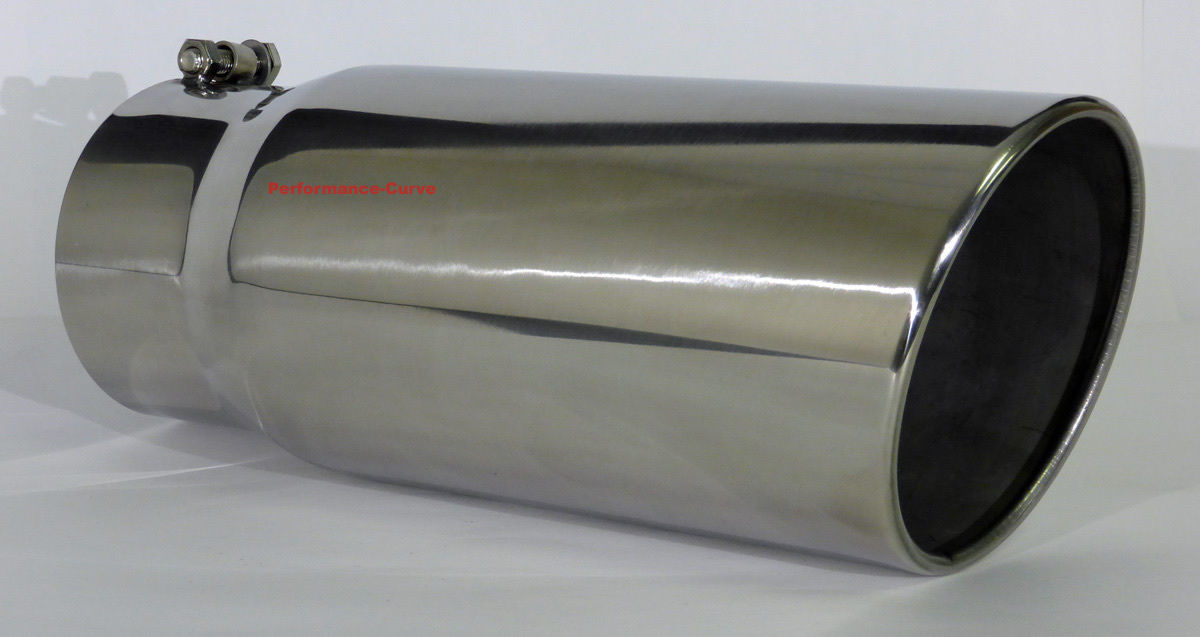 "6/"" Outlet 15/"" Long Diesel Stainless Steel Exhaust Tip 5/"" Inlet"
