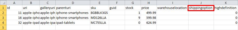 custom header in database csv