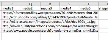 Media URLs in Bulk