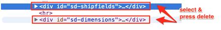 Delete sd-shipfields code