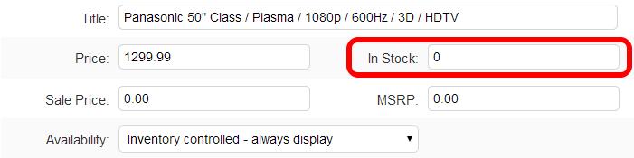 change suredone item inventory to 0