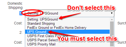 item level shipping example