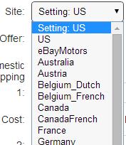 eBay site option