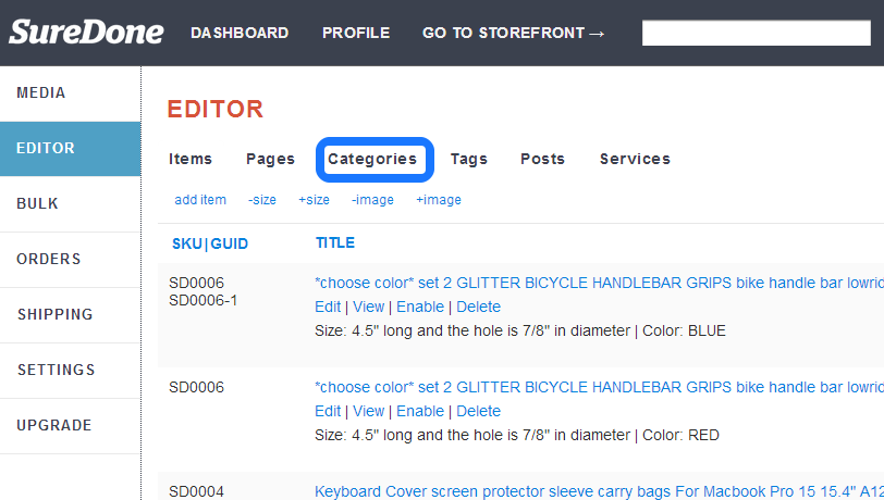 How To: Add a Category or Sub Category   SureDone