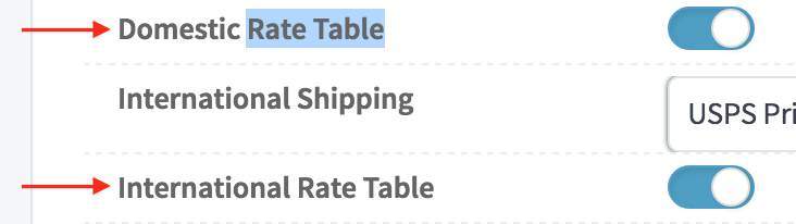 SureDone eBay Shipping Rate Table Toggle