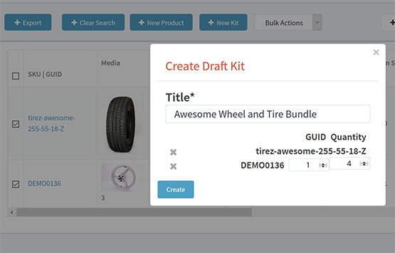 eCommerce automotive kits and bundles