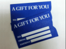 Blue Gift Card Sleeve