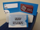 "Blue ""Happy Holiday"" Gift Card Carrier"
