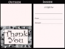 Generic Thank You Gift Card Carrier