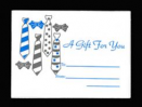 Tie Mini Envelope Gift Card Sleeve