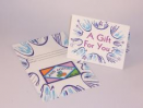 Blue Folded Gift Card Carrier