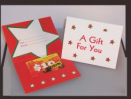 Red Folded Gift Card Carrier