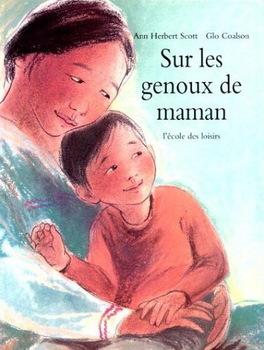 Couverture de livre : Sur les genoux de maman