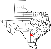 Small map of Atascosa county