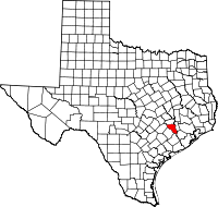 Small map of Austin county