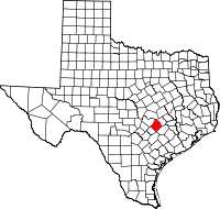 Small map of Bastrop county