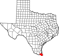 Small map of Cameron county
