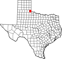 Small map of Childress county