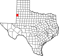 Small map of Cochran county