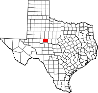 Small map of Coke county