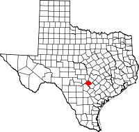 Small map of Comal county