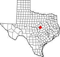 Small map of Coryell county