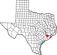 Small map of Fort Bend county