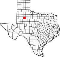 Small map of Garza county