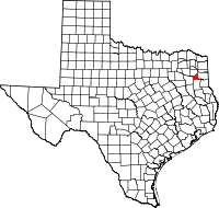 Small map of Gregg county