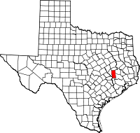 Small map of Grimes county