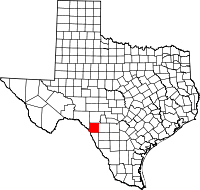 Small map of Kinney county