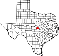 Small map of Lampasas county