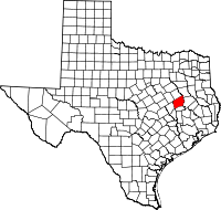 Small map of Leon county
