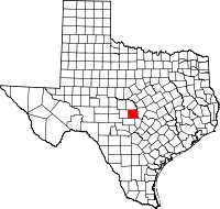 Small map of Llano county