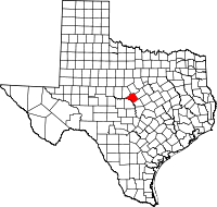 Small map of Mills county