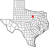 Small map of Parker county