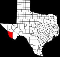 Small map of Presidio county