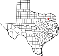 Small map of Rains county