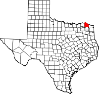 Small map of Red River county
