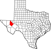Small map of Reeves county