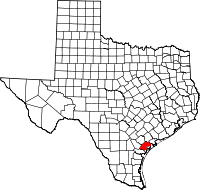 Small map of Refugio county