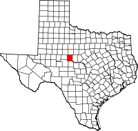 Small map of Runnels county