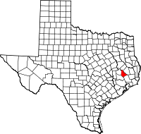 Small map of San Jacinto county