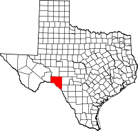 Small map of Val Verde county