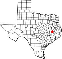 Small map of Walker county