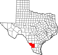 Small map of Webb county